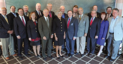 Dr. Podgorny (seventh from right) met annually with other ACEP Past Presidents, including the October meeting in Seattle.