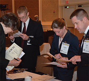 Before meeting with Members of Congress and their staffs, emergency physicians from Delaware prepare their message and organize their visit schedules.