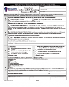 Figure 1. POLST form for Pennsylvania, available at http://www.polst.org/educational_resource/pennsylvania-polst-form.