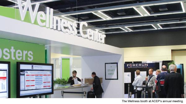 ACEP Wellness Booth Brings One Member a Health Warning
