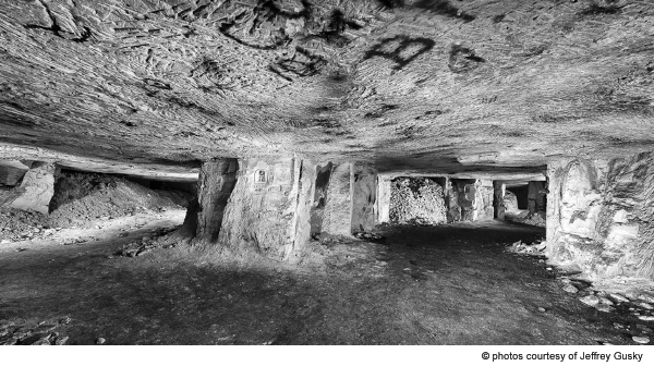 Former underground city beneath the trenches. Photographed March 11, 2013. Picardy, France.