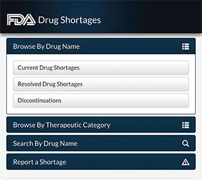 FDA Launches Mobile App to Alert Public About Drug Shortages