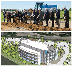 ACEP Board members and staff attended the groundbreaking ceremony. The new building will be approximately 57,000 square feet, with an estimated move-in scheduled for summer 2016.