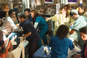 PHOTOS: Cliff Lipson/CBS<br>Scenes from the Code Black TV series.