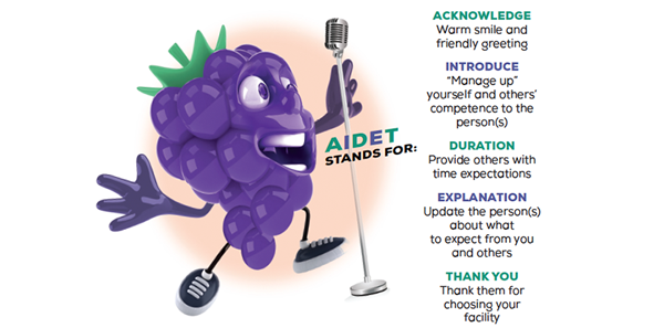 AIDET: A Popular Way of Improving Patients' Care Experience
