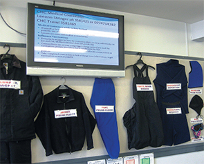 A selection of extreme cold weather gear issued to U.S. Antarctic Program participants.