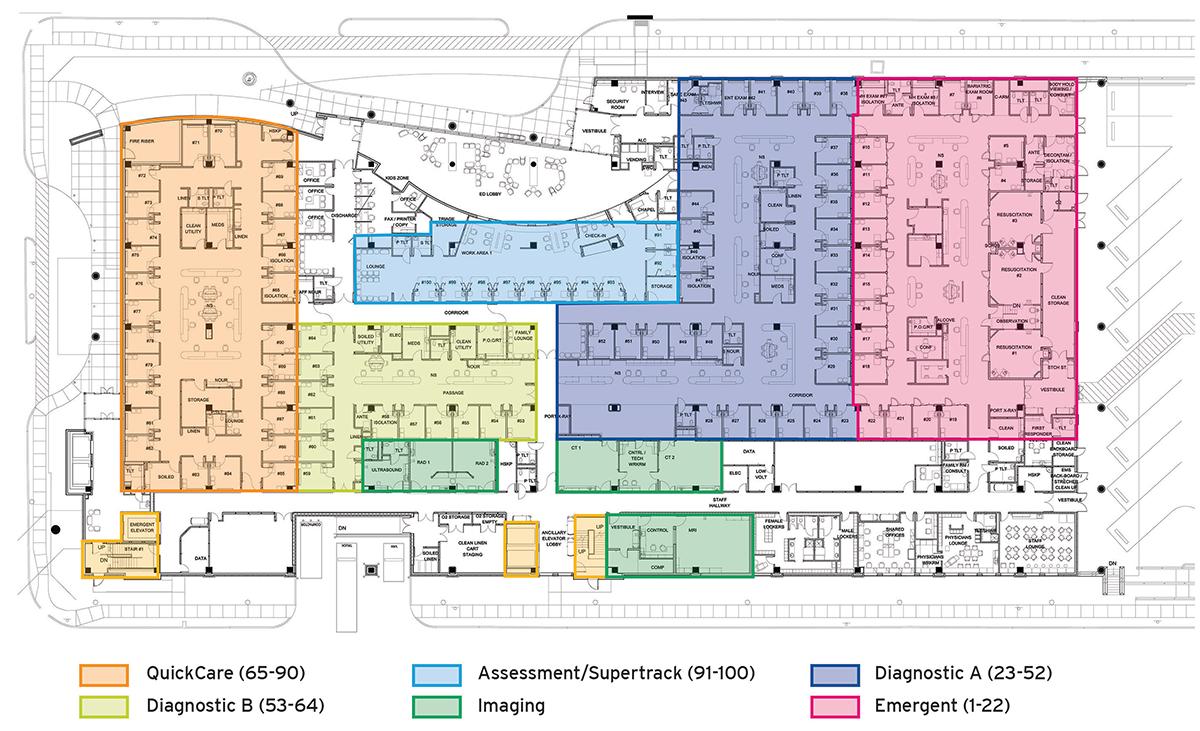 Emergency department floor plan floor plan ideas for Emergency room design floor plan