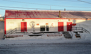 The hospital clinic at McMurdo Station.