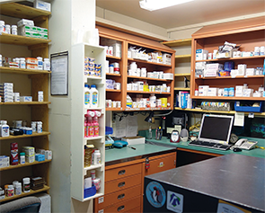 The pharmacy at McMurdo Station.