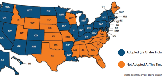 Figure 1: Current Status of State Medicaid Expansion Decisions