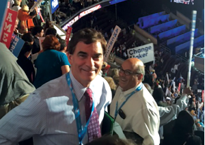 Jay Kaplan, MD, FACEP, at the Democratic National Convention.