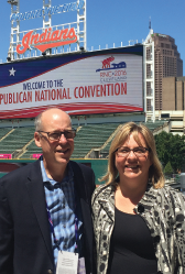 Rebecca Parker, MD, FACEP (right), and Rep. Greg Walden (R-OR) at Republican National Convention.