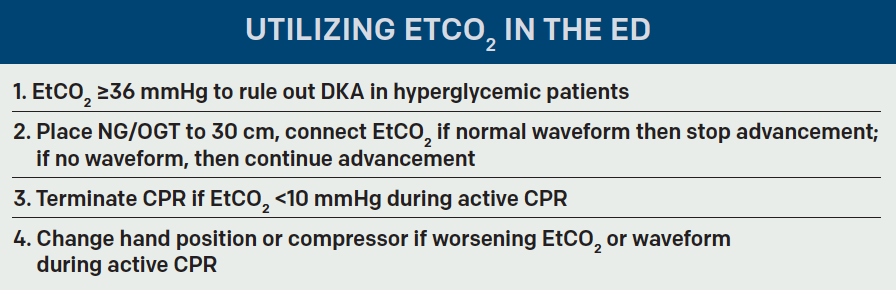 Use End-Tidal Capnography for Placing Orogastric