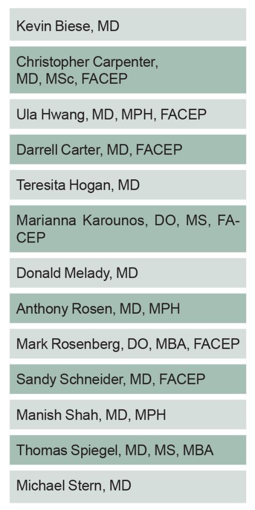 Table 1: Geriatric ED Accreditation Taskforce