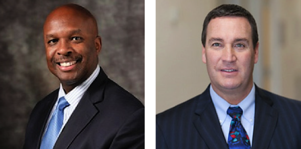 Leon L. Haley Jr., MD (left), and James D. Thomas, MD, (right) were elected to the American Board of Emergency Medicine's Board of Directors at the February 2017 meeting.