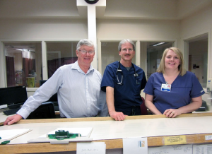 CEO Tom Moakler, ED Medical Director Brian Griffin, and Nursing Director Tricia Murray (left to right).