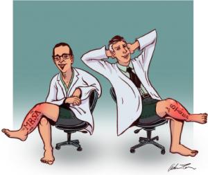 Dr. Greg Moran (left) and Dr. David Talan.