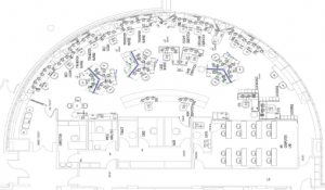 Figure 1: The current layout of the Carilion Clinic's Transfer and Communications Center.