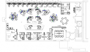 Figure 2: The layout of the Carilion Clinic's future Transfer and Communications Center space.
