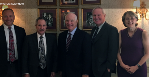 ACEP Members Meet with Senator Ben Cardin to Discuss Political Issues, Health Care Policy