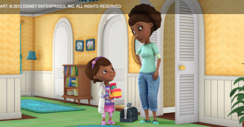 Doc and her mother, Maisha, talk about Doc's jack-in-the-box patient, Little Jack.