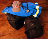 Figure 1: Dr. Troutman's supplies for his five-day deployment to the Texas coast.