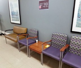 Figure 2: Fast track internal waiting room.