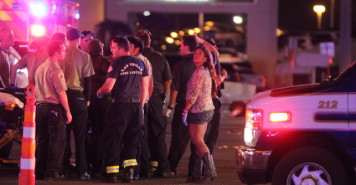 First responders to the mass shooting on the Las Vegas Strip.