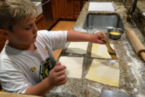 Jacob the Baker - The Parkers' son Jacob baking with his dad. Photo: Matty Parker