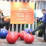 Attendees exercise at ACEP17