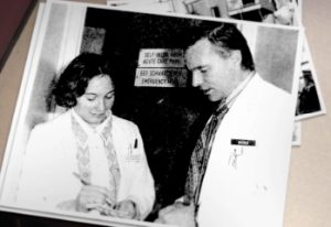 Pamela Bensen, MD, MS, FACEP, the first ever EM Intern in 1971, as seen in the documentary24/7/365.