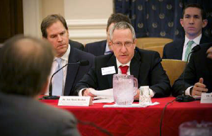 Dr. Jon Mark Hirshon, a member of ACEP's Board of Directors, speaking at the House Ways and Means Health Subcommittee.