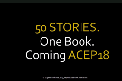 Get Your Copy of ACEP's Anniversary Book