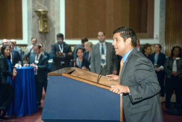 Emergency physician U.S. Rep Raul Ruiz, MD (D-CA), speaks to LAC attendees.