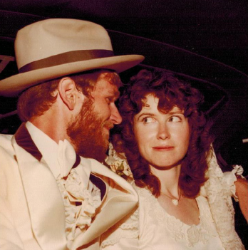 Dr. O'Shea and Dr. Benzoni at their wedding.