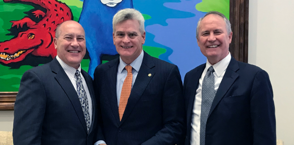ACEP President Vidor E. Friedman, MD, FACEP; Sen. Bill Cassidy, MD; ACEP Executive Director Dean Wilkerson, MBA, JD, CAE.