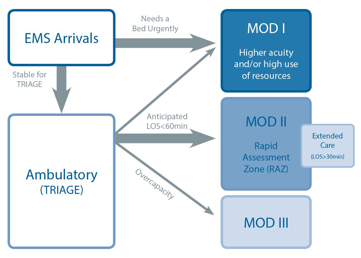Figure 1: Helen DeVos ED Flow Model