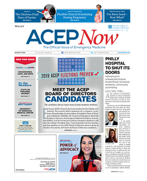 ACEP August 2019 cover issue
