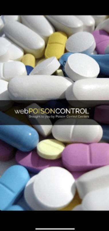 Figure 1: webPOISONCONTROL App