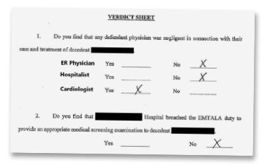 Figure 3: Arbitrator verdict sheet