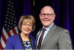 Ohio resident Gary R. Katz, MD, MBA, FACEP, (pictured on the right) was unopposed in his bid for the Council Speaker position, and Kelly Gray-Eurom, MD, MMM, FACEP, of Florida (pictured on the left) was chosen as Vice Speaker.