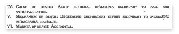 Figure 3: The patient's autopsy report.