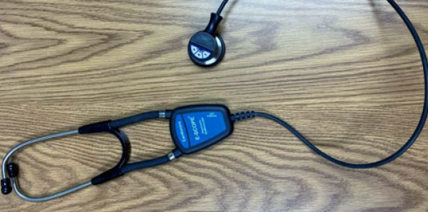 Figure 1: An amplified stethoscope.