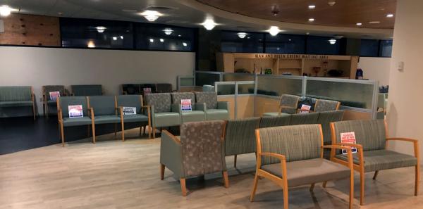 The Tennity ED waiting room at 7 p.m.