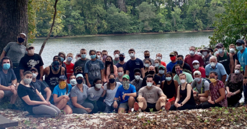 Medical College of Georgia residents at wilderness medicine day.
