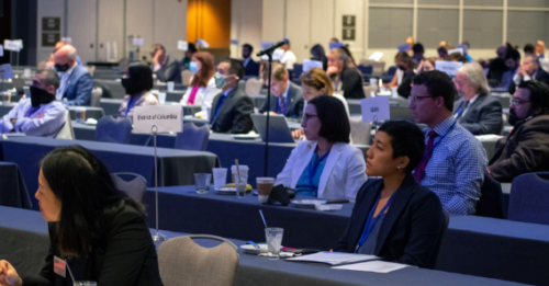 ACEP members listen to one of the informative sessions from LAC21.